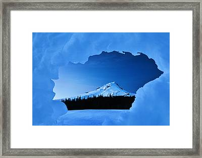 Mount Hood Blues Framed Print by Darren  White