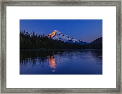 Mount Hood First Light Framed Print by Vishwanath Bhat