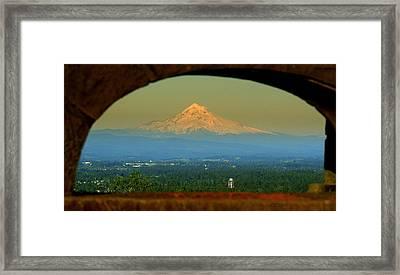 Mount Hood Framed Framed Print by DerekTXFactor Creative