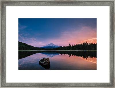 Mount Hood Magic Framed Print by Dan Mihai