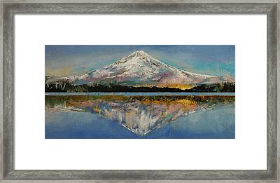 Mount Hood Framed Print by Michael Creese