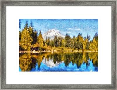 Mount Hood Mirror Lake Framed Print