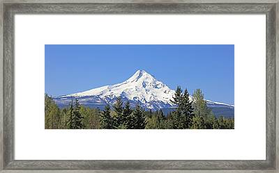 Mount Hood Mountain Oregon Framed Print by Jennie Marie Schell