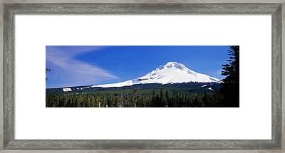 Mount Hood Or Usa Framed Print