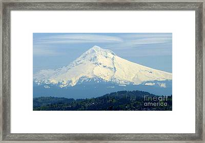 Mount Hood  Framed Print by Susan Garren