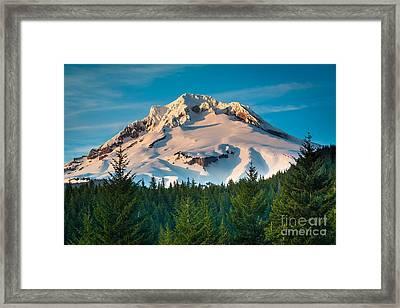 Mount Hood Winter Framed Print