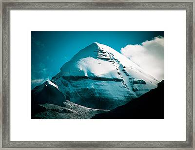 Mount Kailash Home Of The Lord Shiva Framed Print by Raimond Klavins