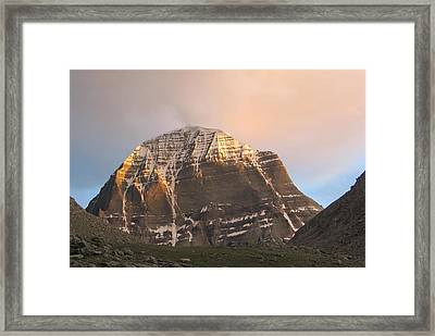 Mount Kailash Framed Print by Rajesh  Gupta