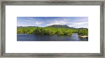 Mount Katahdin And The West Branch  Framed Print