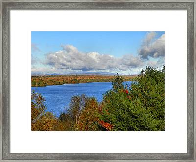 Mount Katahdin Autumn 18 Framed Print