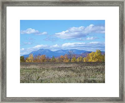 Mount Katahdin From Stacyville Framed Print by Joseph Marquis