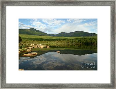 Framed Print featuring the photograph Mount Katahdin by Jeannette Hunt
