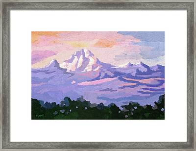 Mount Kenya At Dawn Framed Print