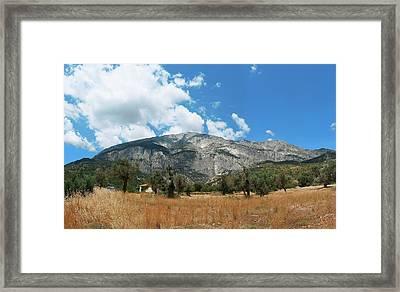 Mount Kerkis Framed Print