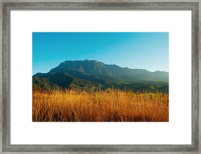 Mount Kinabalu Framed Print