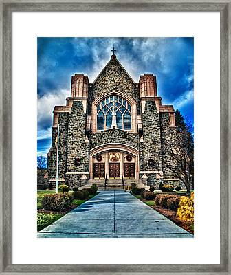 Mount Kisco Church Framed Print by Emmanouil Klimis