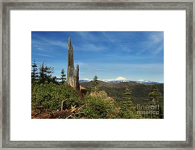 Mount Lassen From A Distance Framed Print by James Eddy