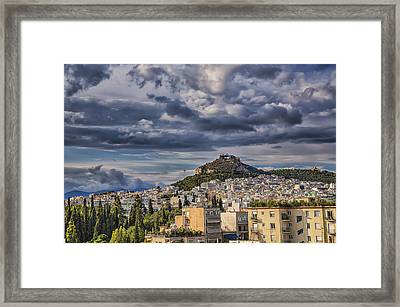Framed Print featuring the photograph Mount Lycabettus In Late Afternoon by Micah Goff