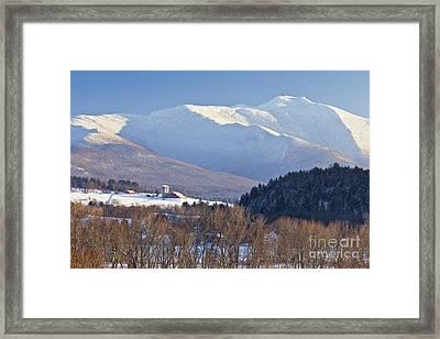 Mount Mansfield Winter Framed Print