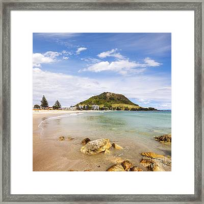 Mount Maunganui Bay Of Plenty New Zealand Framed Print by Colin and Linda McKie