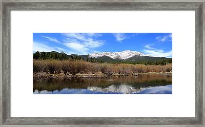 Mount Meeker - Panorama Framed Print