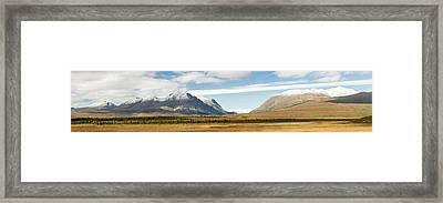 Mount Moffit And Mcginnis Peak Landmark Framed Print