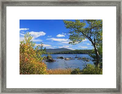 Mount Monadnock And Silver Lake Framed Print by John Burk