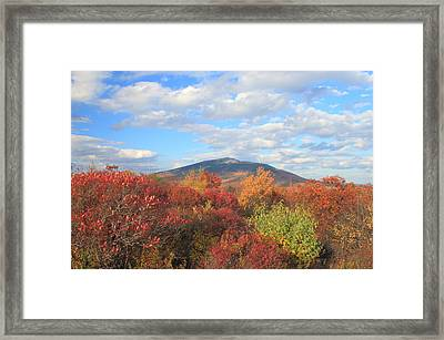 Mount Monadnock From Gap Mountain In Autumn Framed Print by John Burk