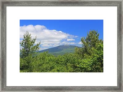 Mount Monadnock From Little Monadnock Mountain Framed Print by John Burk