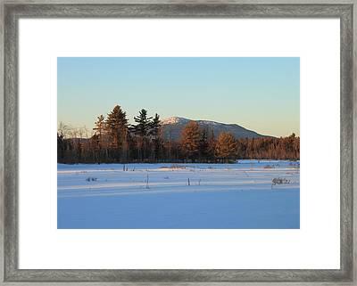 Mount Monadnock From Scott Brook In Winter Framed Print by John Burk
