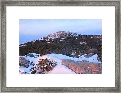 Mount Monadnock Summit From Bald Rock Framed Print by John Burk