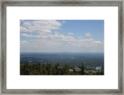 Mount Monandock Summit View Framed Print