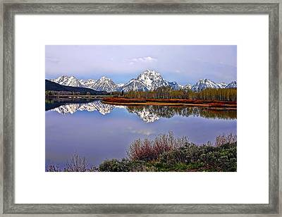 Mount Moran And Jackson Lake Framed Print