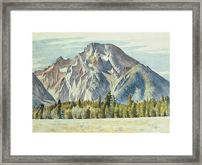 Mount Moran Framed Print by Edward Hopper