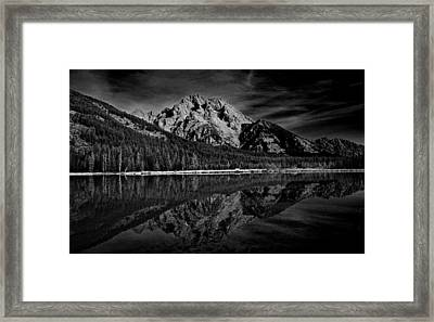 Mount Moran In Black And White Framed Print by Raymond Salani III