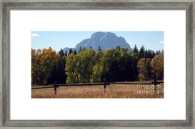 Framed Print featuring the photograph Mount Moran by Janice Westerberg