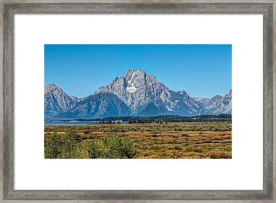Mount Moran Framed Print by John M Bailey