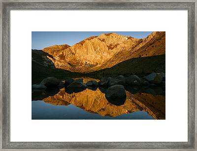 Mount Morrison Convict Lake Morning Framed Print