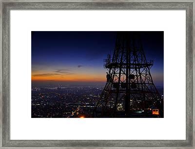 Mount Namsan Twilight Framed Print