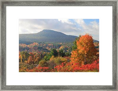 Mount Norwatuck From Mount Pollux In Autumn Framed Print