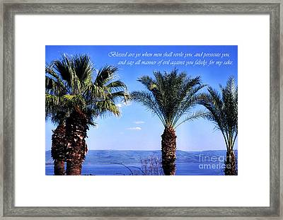 Mount Of The Beatitudes Framed Print by Thomas R Fletcher