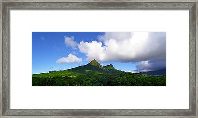 Mount Olomana Hawaii Framed Print
