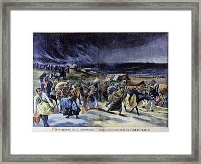 Mount Pelee Eruption Framed Print by Cci Archives