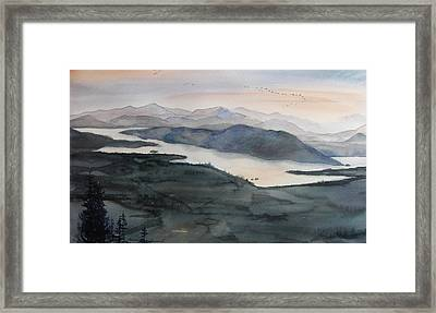 Mount Philo Summer Framed Print by Amanda Amend