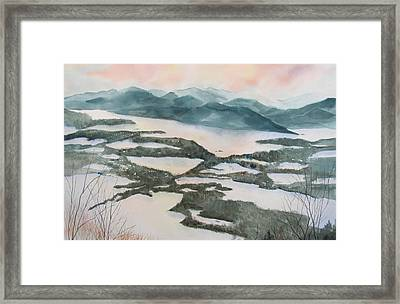 Mount Philo Winter Framed Print by Amanda Amend