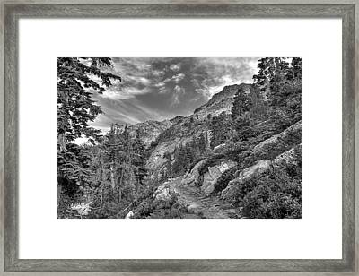 Mount Pilchuck Black And White Framed Print by Charlie Duncan