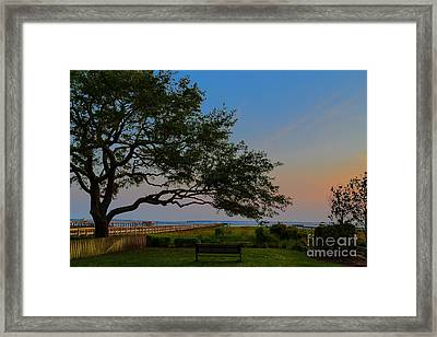 Mount Pleasant Sunset Framed Print