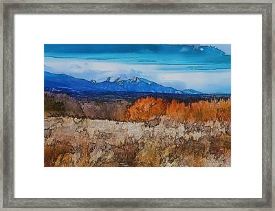 Mount Princeton Framed Print