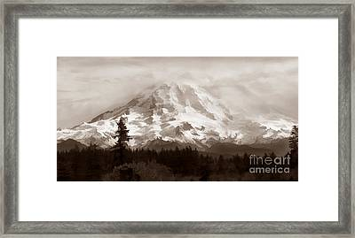 Mount Rainer Framed Print