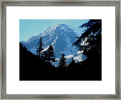 Mount Rainier 14 Framed Print by Kathy Long